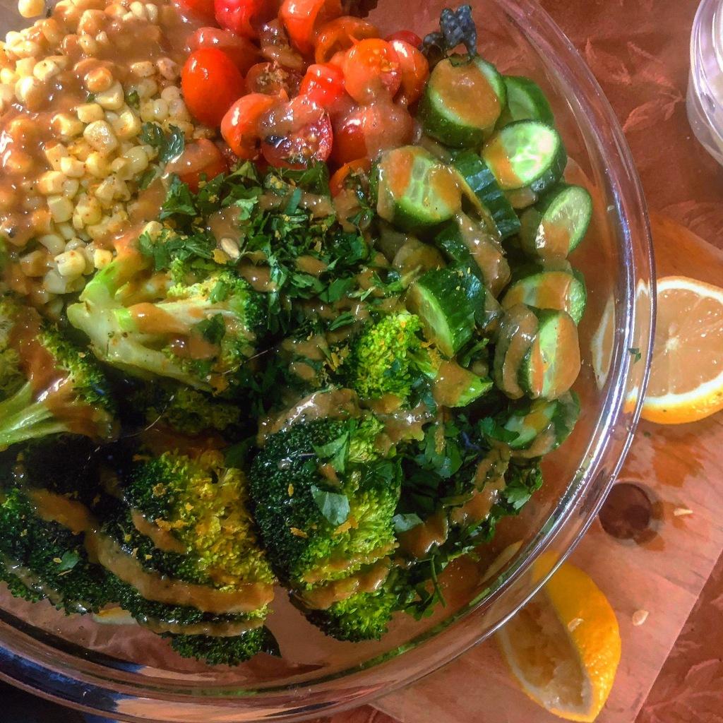 hearty vegan salad